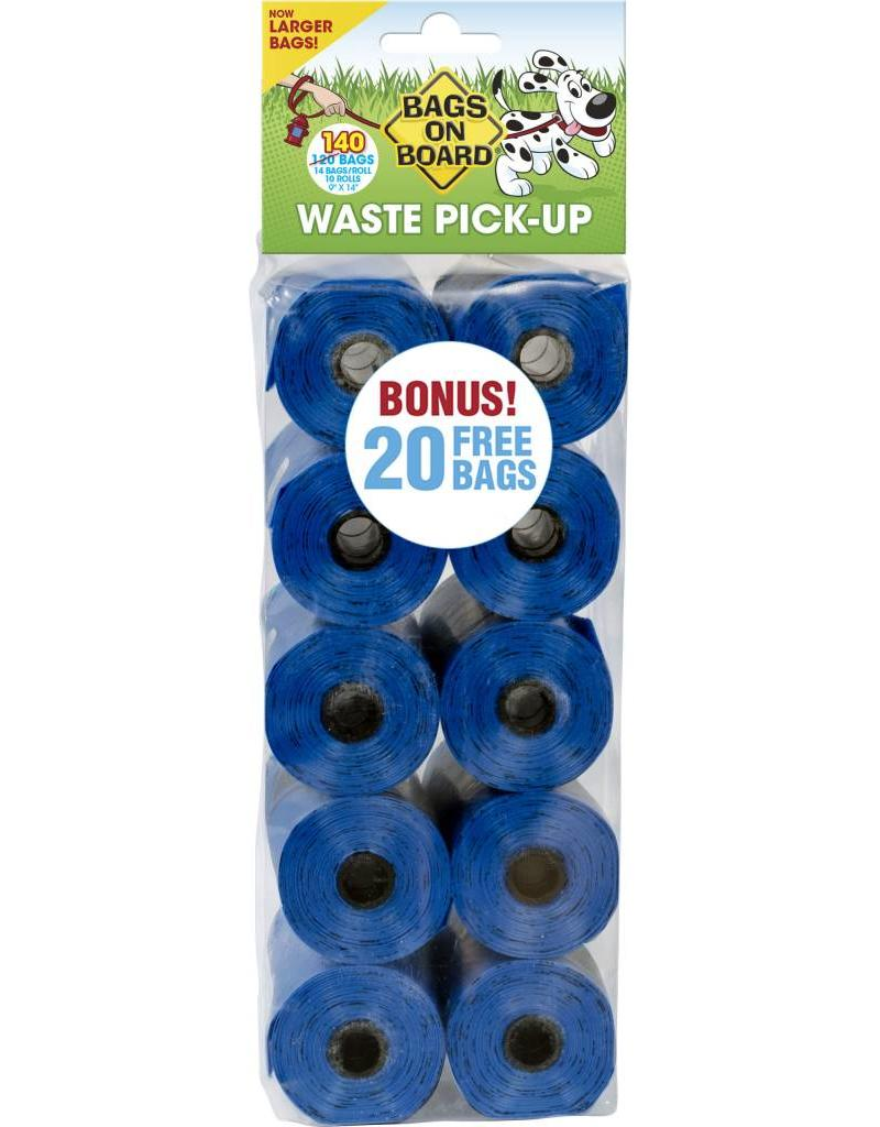 Bags on Board 9×14in Poop Bag Refills - 140 Blue Bags