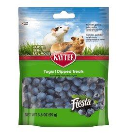 KayTee Fiesta Blueberry Flavor Yogurt Dipped Treats for Hamster, Gerbil, Rat and Mouse, 3.5oz
