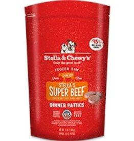 Stella & Chewy's Stella's Super Beef Frozen Raw Dinner Patties 6lb