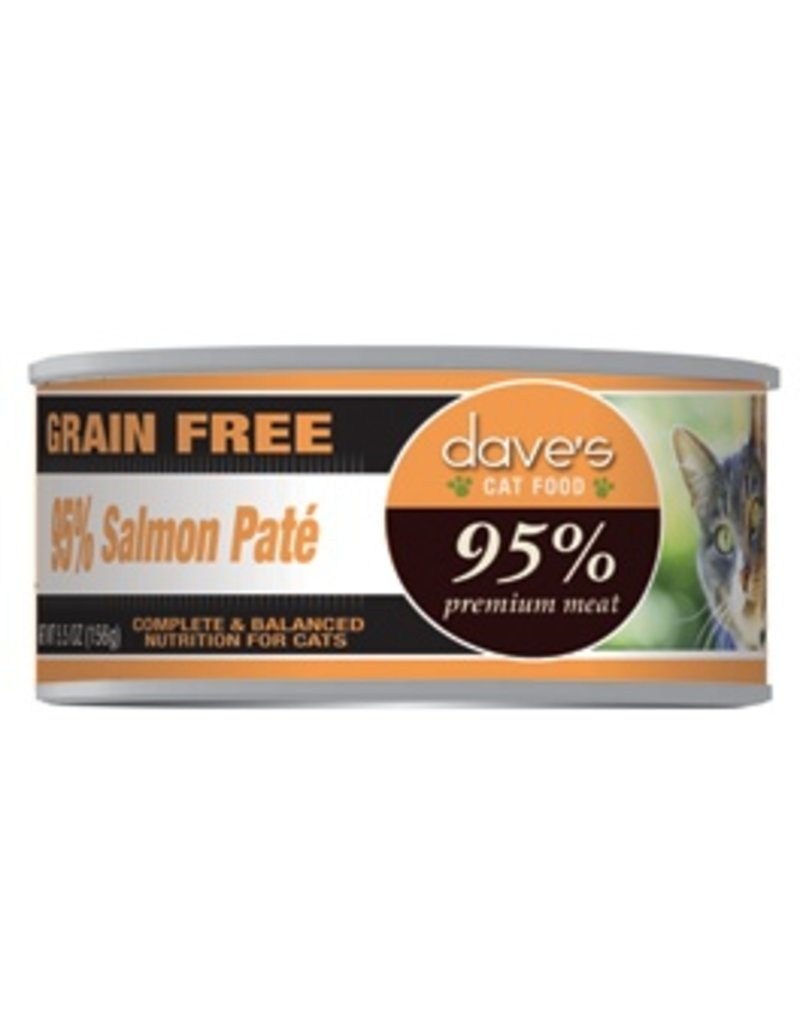 Dave's Cat 95% Salmon Pate' 5.5oz