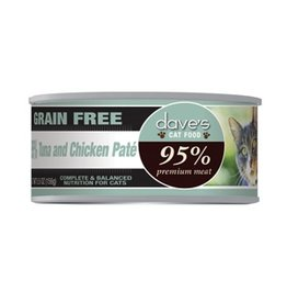 Dave's Cat 95% Tuna & Chicken Pate' 5.5oz