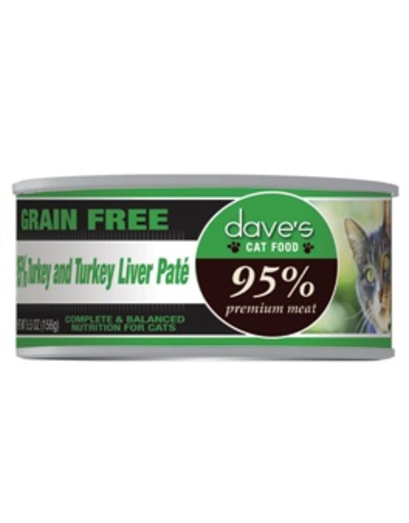 Dave's Cat 95% Turkey & Turkey Liver Pate' 5.5oz