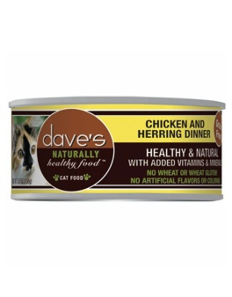 Dave's Cat Naturally Healthy Chicken & Herring 5.5oz