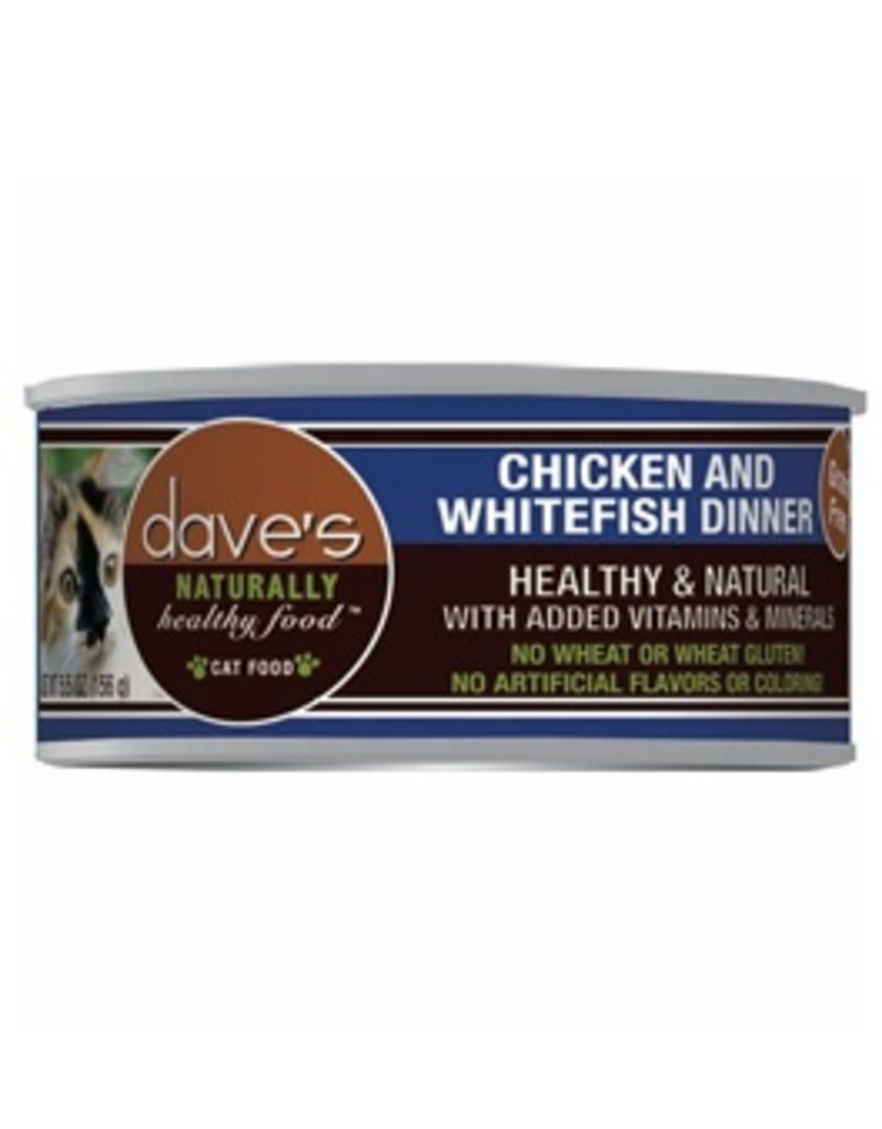 Dave's Cat Naturally Healthy Chicken & Whitefish 5.5oz