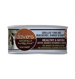 Dave's Cat Naturally Healthy Tuna & Mackerel in Gravy 5.5oz