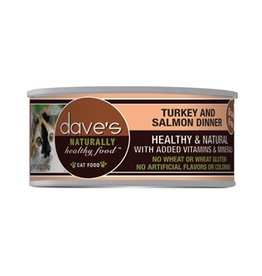 Dave's Cat Naturally Healthy  Turkey & Salmon 5.5oz