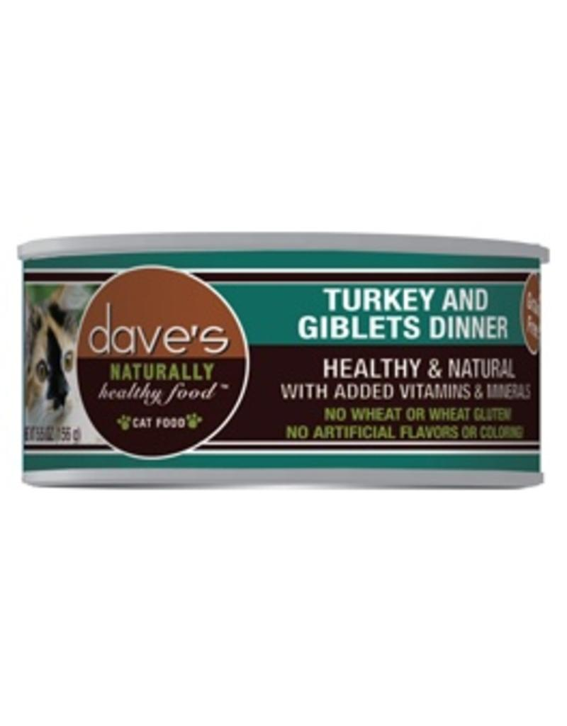 Dave's Cat Naturally Healthy Turkey & Giblets 5.5oz