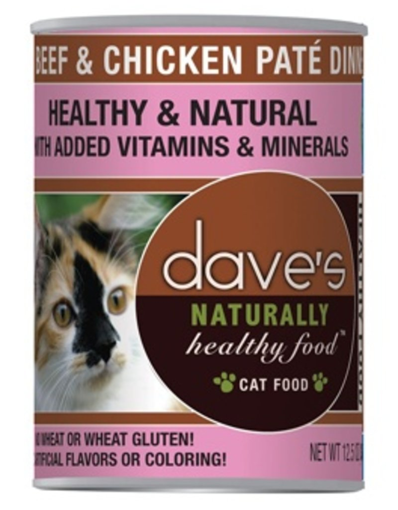 Dave's Cat Naturally Healthy Beef & Chicken Pate' 12oz