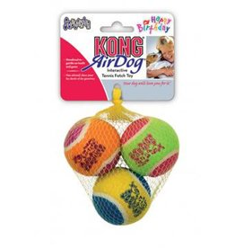 Kong Airdog Squeakair Birthday Balls Medium 3pk