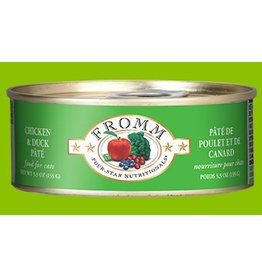 Fromm Family 4 Star Cat Can GF Chicken & Duck Pate' 5.5 oz