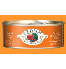 Fromm Family 4 Star Cat Can GF Chicken & Salmon Pate' 5.5 oz