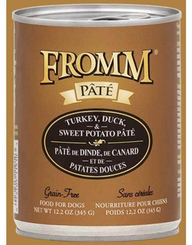 Fromm Turkey, Duck & Sweet Potato Pate' 12.2oz