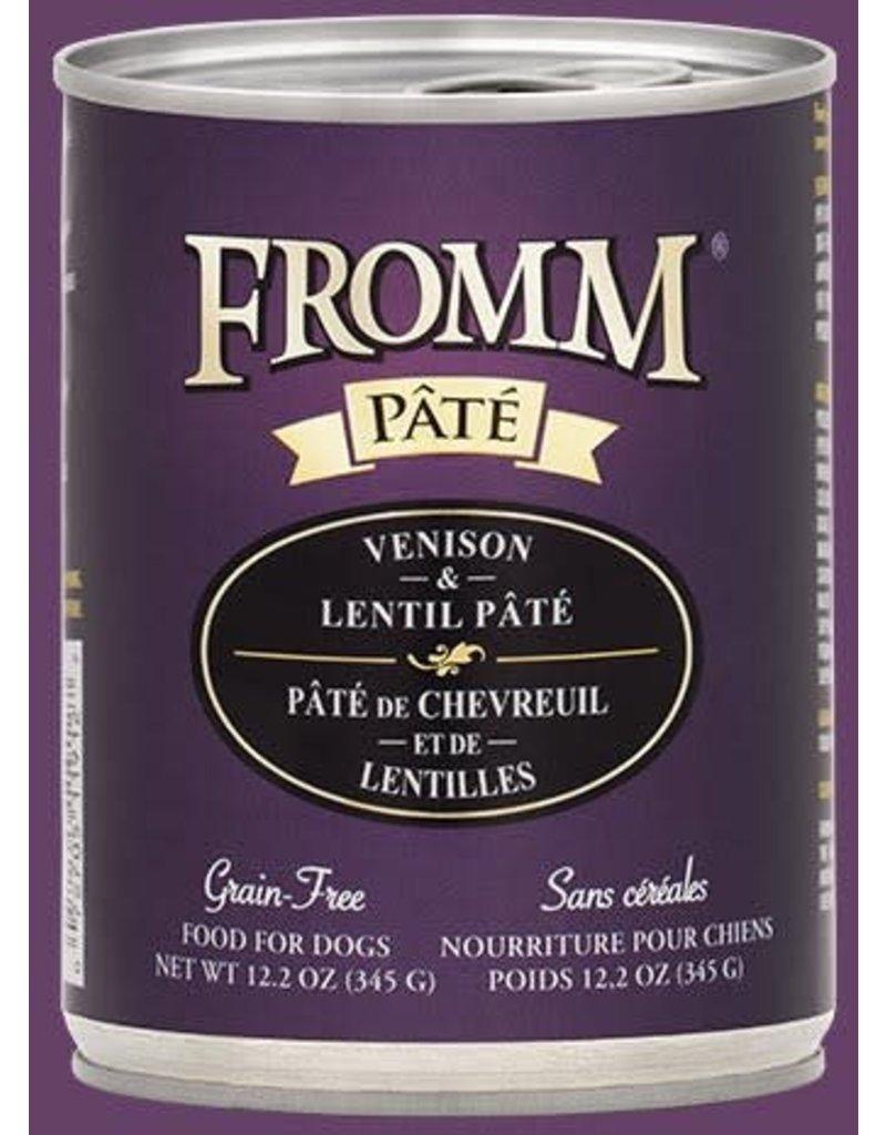 Fromm Dog  Grain Free Venison & Lentil Pate' 12.2oz
