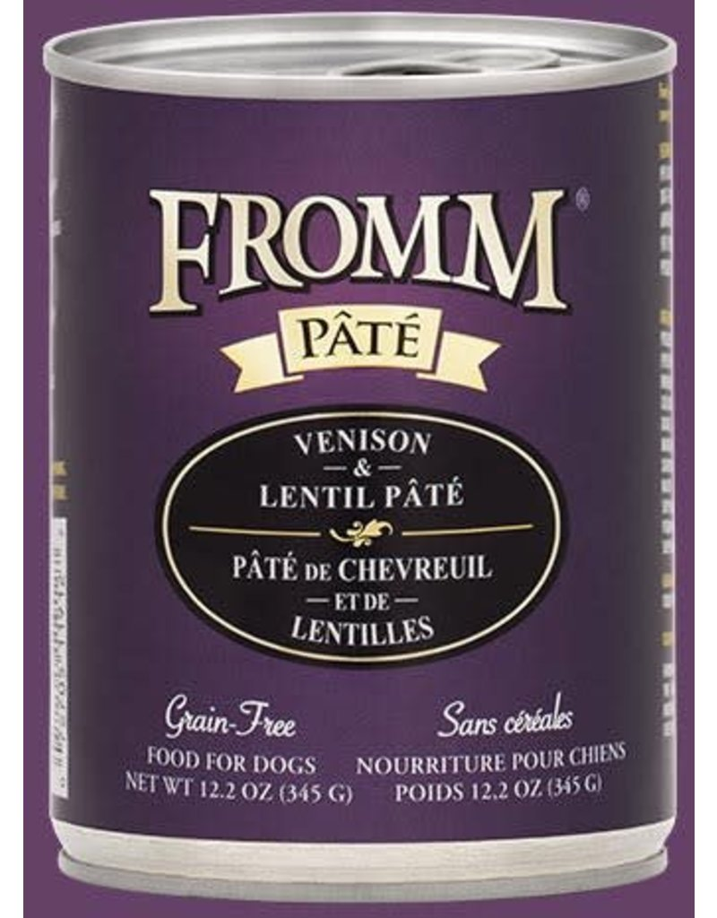 Fromm Venison & Lentil Pate' 12.2oz