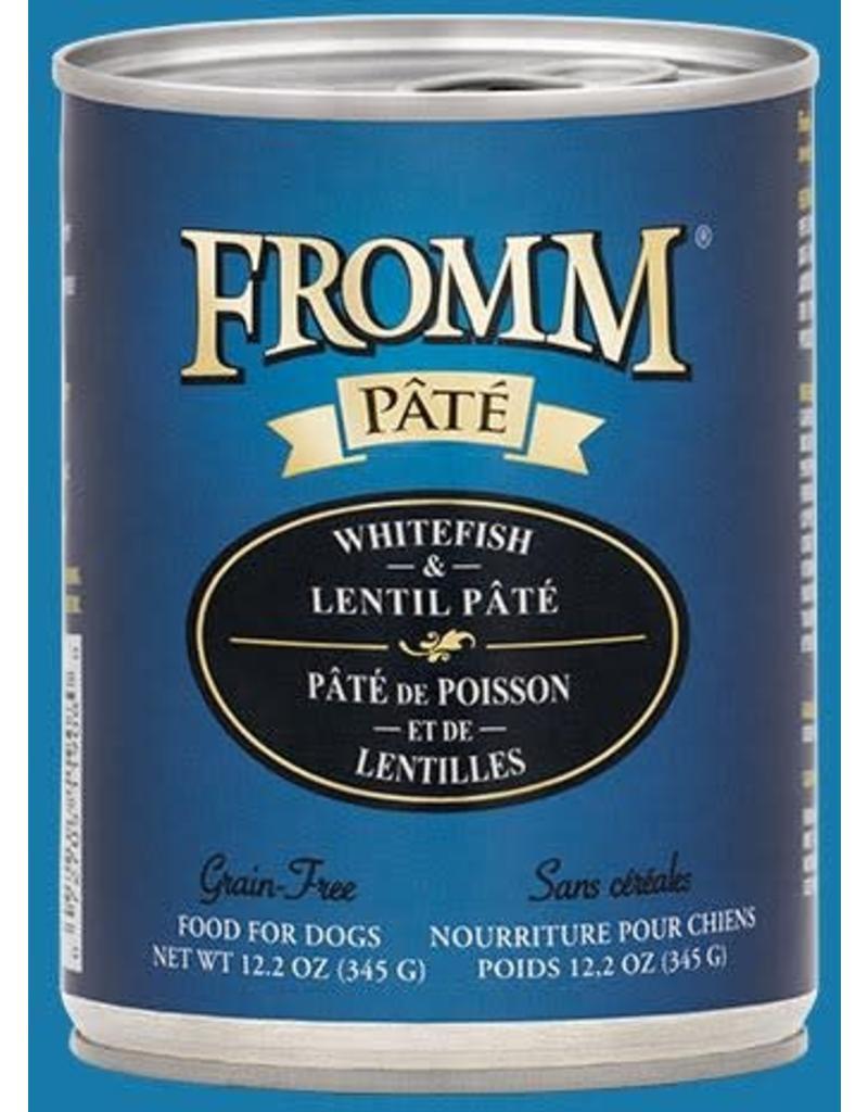 Fromm Dog Grain Free Whitefish & Lentil Pate' 12.2oz