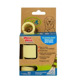 Four Paws Wee-Wee Eco Waste Bag Dispenser with Flashlight and Waste Bags