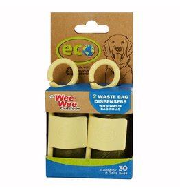 Four Paws Wee-Wee Eco Waste Bag Dispenser with Waste Bags