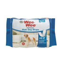 Four Paws Wee Wee Disposable Male Dog Wraps  12 Pack