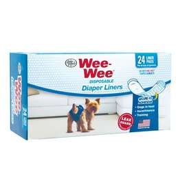 Four Paws Wee Wee Disposable Diaper Liners  24 Pack