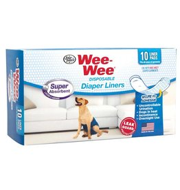 Four Paws Wee Wee Disposable Diaper Super Absorbent Liners  10 Pack