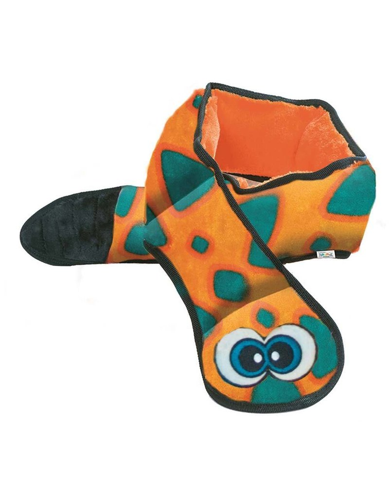 Outward Hound Invincibles Snake Orange & Blue with 6 Squeakers