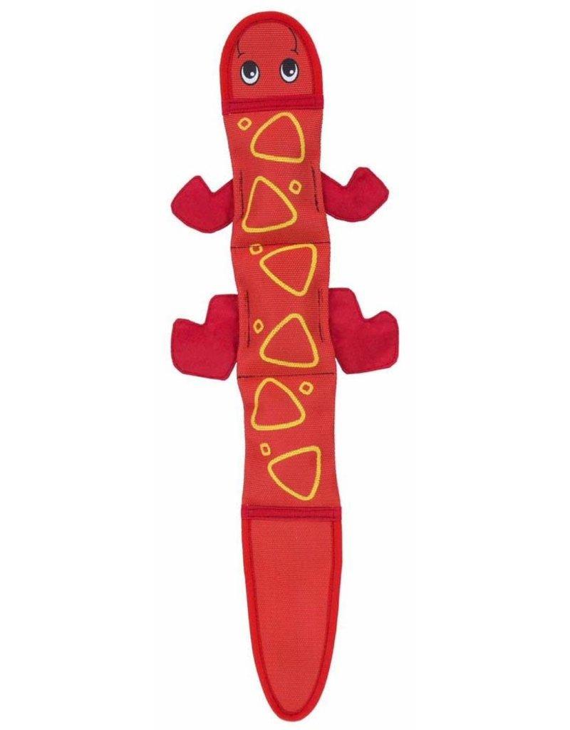 Outward Hound Fire Biterz Lizard Red with 3 Squeakers