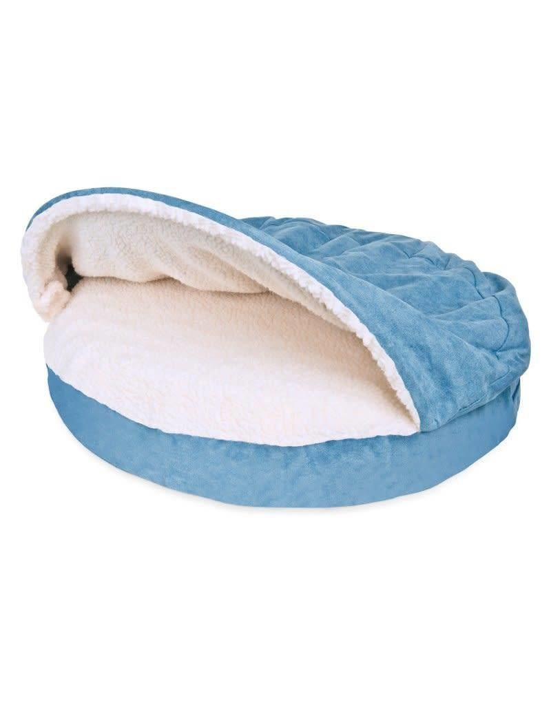 FurHaven Snuggery Burrow Bed - Blue - Large