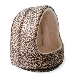 FurHaven Hood Bed - Animal Print - Cheetah
