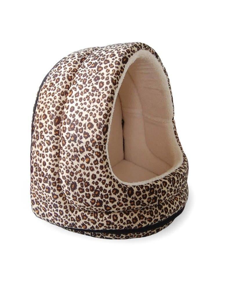 FurHaven Hood Bed - Animal Print - Cheetah
