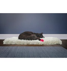 FurHaven Convertible Cozy Cuddle Bed - Large - Silver