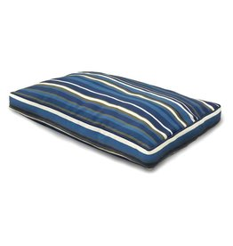 FurHaven Deluxe Indoor/Outdoor Striped Bed - Medium - Blue