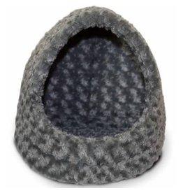 FurHaven Hood Bed - Ultra Plush - Gray