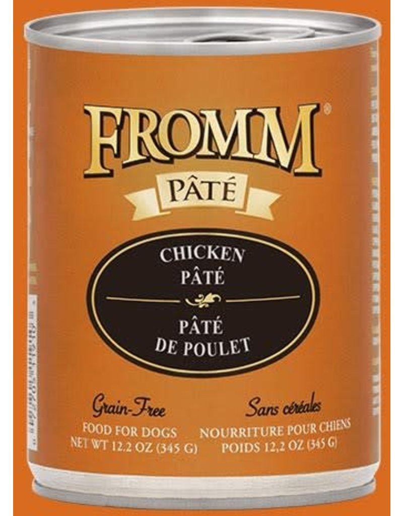 Fromm Dog Grain Free Chicken Pate' 12.2 oz