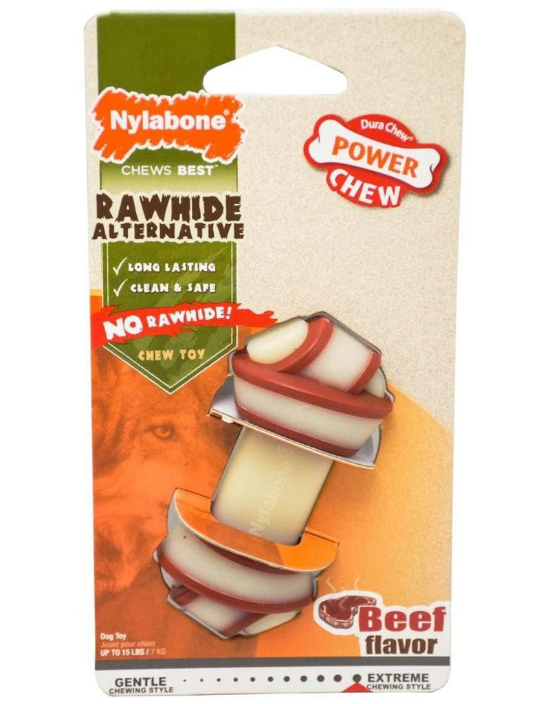 Nylabone Power Chew Rawhide Alternative Knot Bone Small