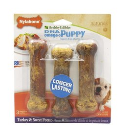 Nylabone Healthy Edibles Sweet Potato & Turkey 3ct Puppy