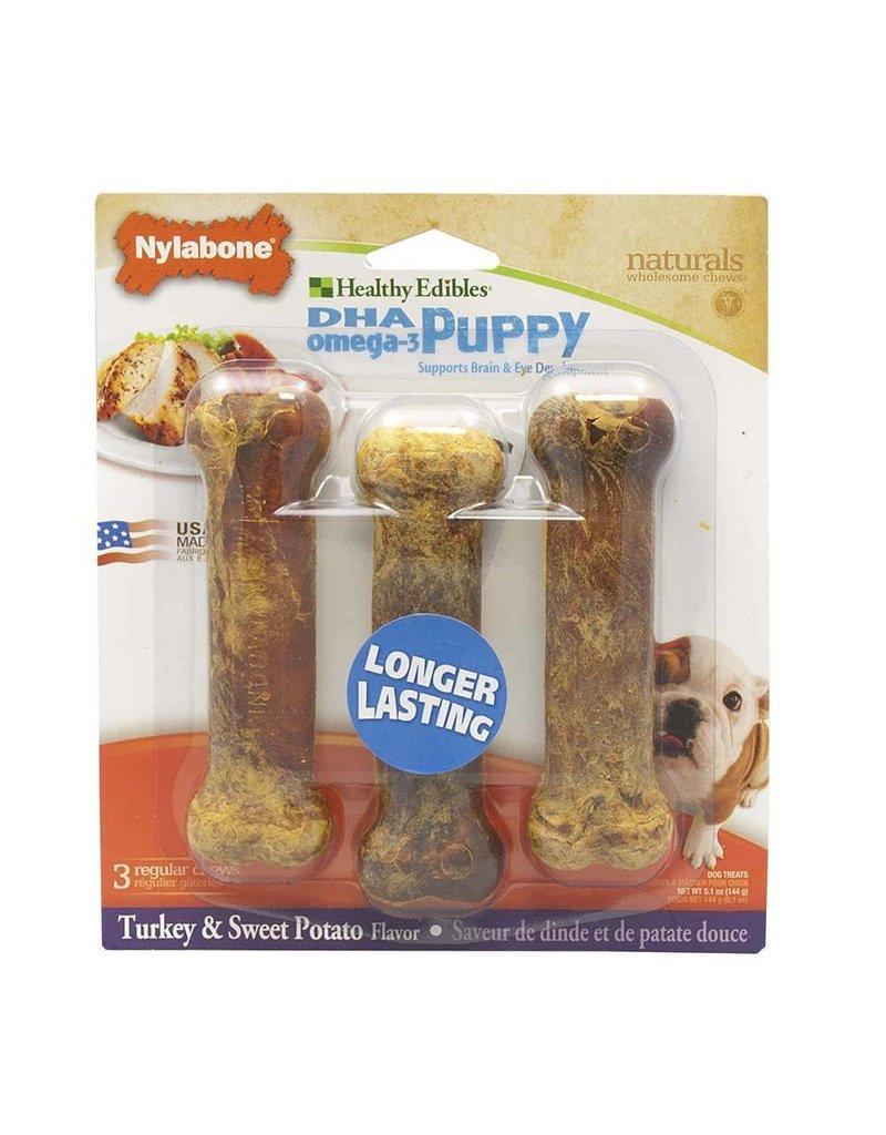 Nylabone Healthy Edibles Sweet Potato & Turkey 3ct Puppy