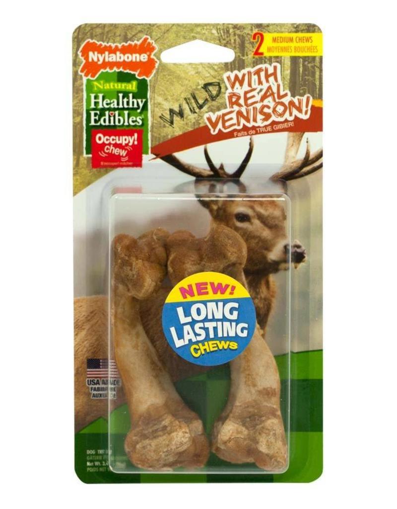 Nylabone Healthy Edibles Wild Venison Medium 2ct