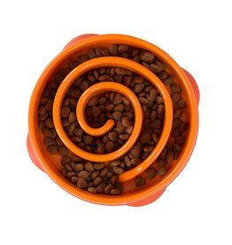 Outward Hound Fun Feeder Slo-Bowl Mini Orange