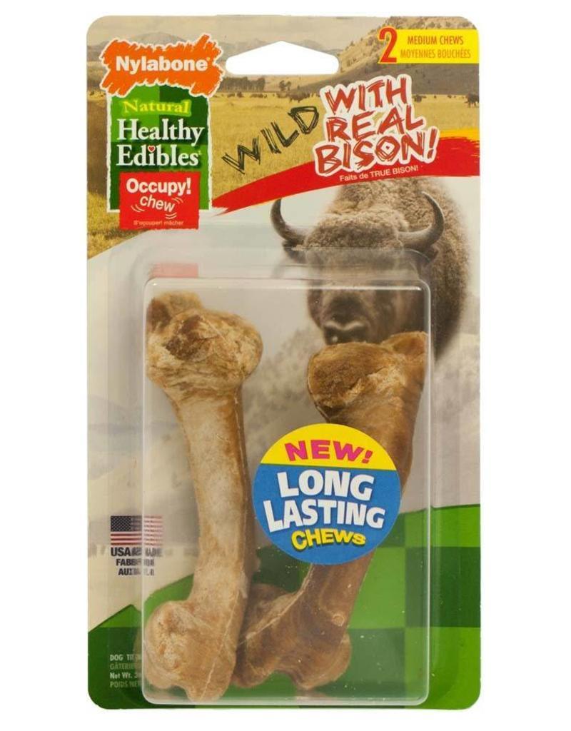 Nylabone Healthy Edibles Wild Bison Medium 2ct