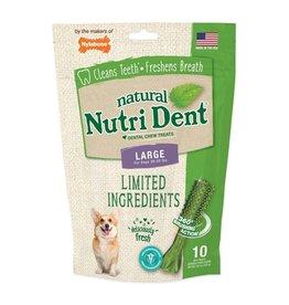 Nylabone Nutrident Fresh Breath Natural Dental Chew Large 10ct