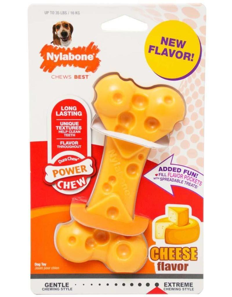 Nylabone Power Chew Cheese Bone Wolf
