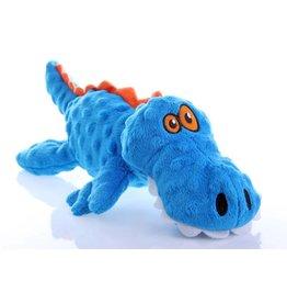 GoDog Gators Large Blue with Chew Guard Technology Tough Plush Dog Toy