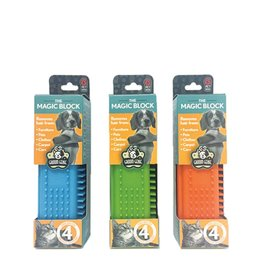Multipet Groom Genie Magic Block Assorted Colors 5.5in