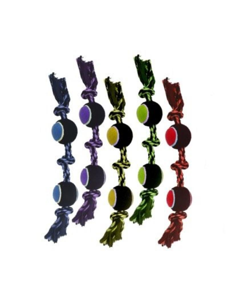 Multipet Nuts for Knots 3-Knot Rope with 2 Tennis Balls