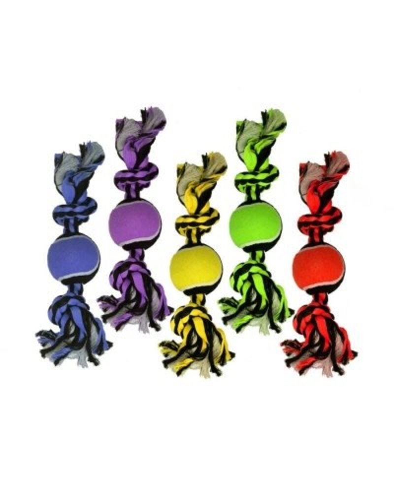 Multipet Nuts for Knots 2-Knot Rope with Tennis Ball
