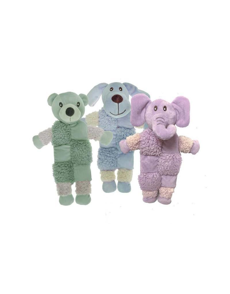 Multipet Aromadog Fleece Squeaker Mat Assorted Colors 9.5in
