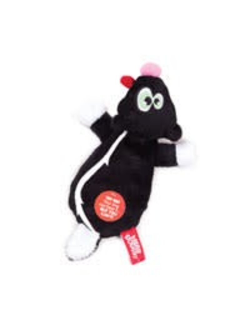 Hear Doggy! Flat Skunk with Silent Squeaker
