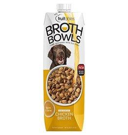 Fruitables Broth Bowl Chicken Dog 16.9oz