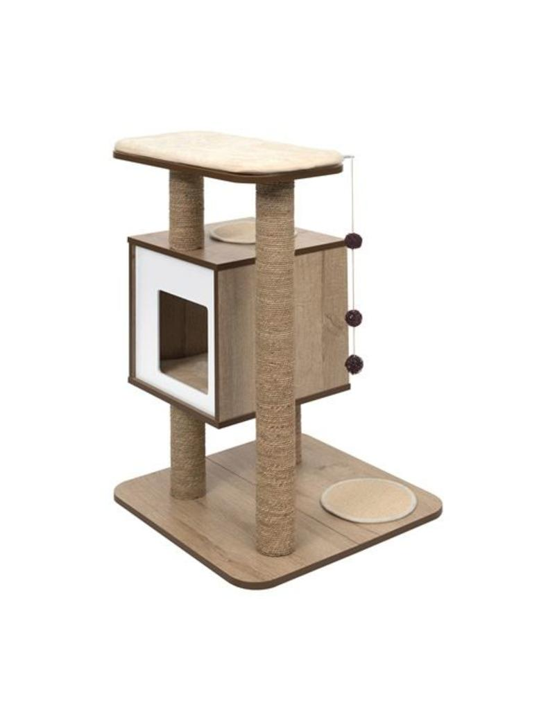 Vesper Cat Furniture Base Oak Pet In The City