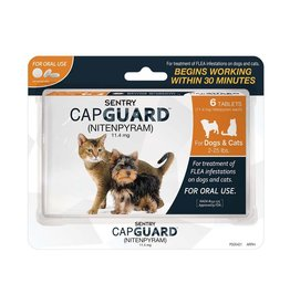 Sergeant's Pet Care Products Sentry CapGuard Flea Tablets Cat 2-25lb 6ct